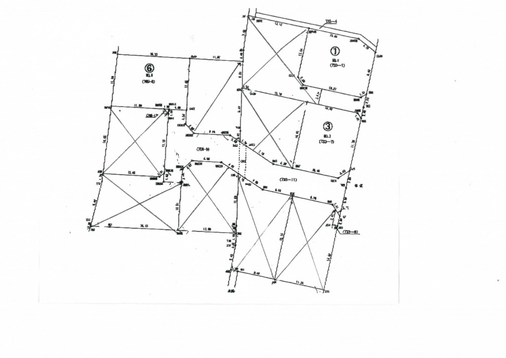 宮崎市大塚町の土地間取り/配置図