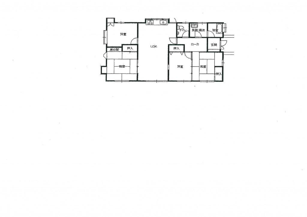 宮崎市花ヶ島の中古住宅間取り/配置図