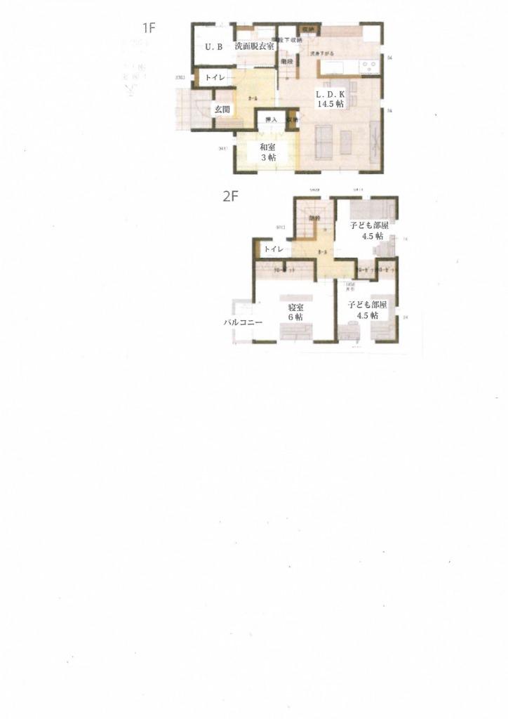 宮崎市島之内の新築一戸建て間取り/配置図