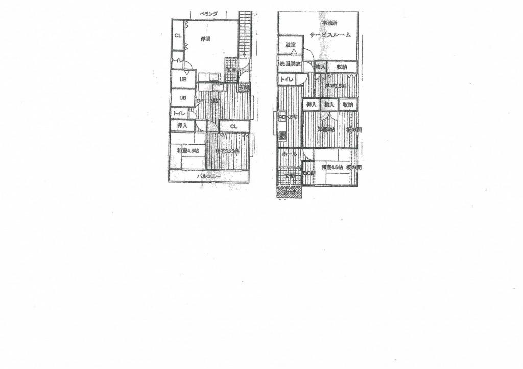 宮崎市鶴島2丁目の中古住宅間取り/配置図
