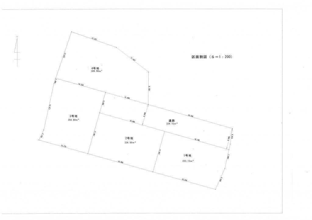 宮崎市佐土原町下田島の土地間取り/配置図