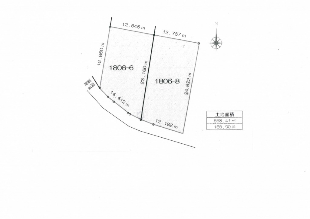 宮崎市東大宮2丁目の土地間取り/配置図