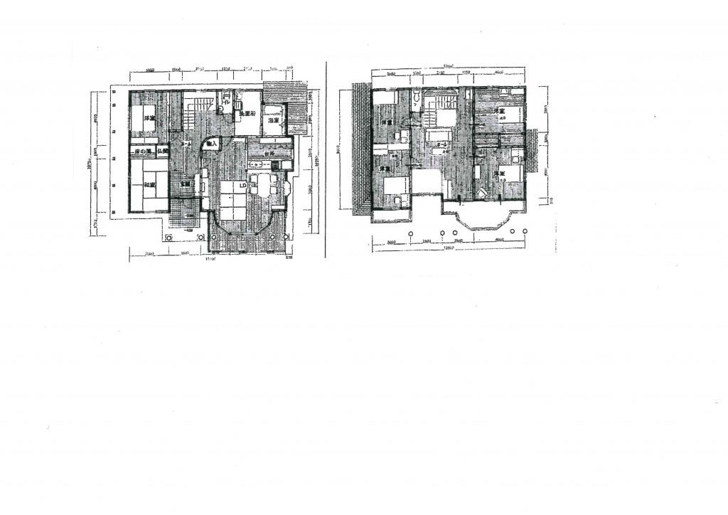 宮崎市祇園4丁目の中古住宅間取り/配置図