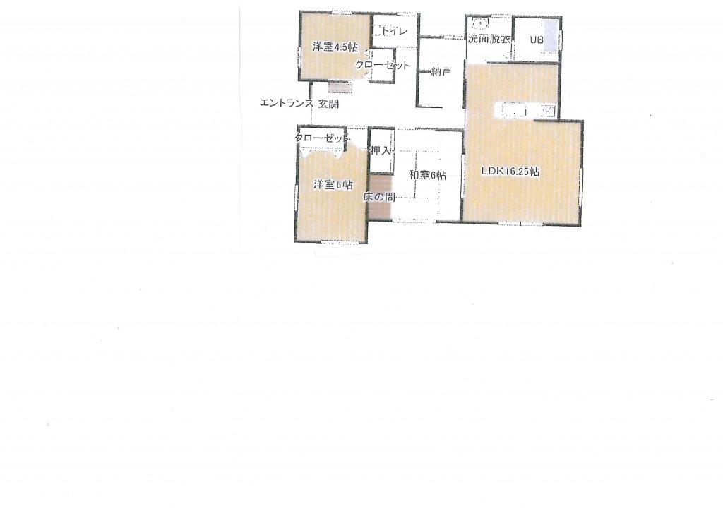 児湯郡新富町大字日置の中古住宅間取り/配置図