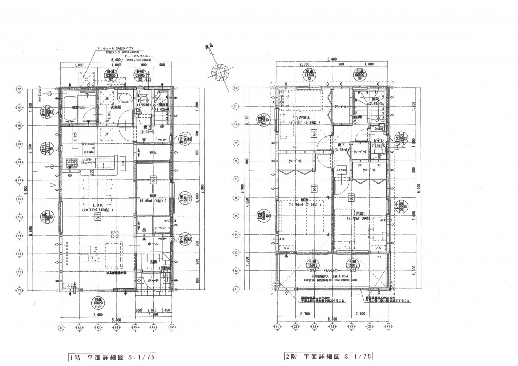 宮崎市清武町新町2丁目5-2の新築一戸建て間取り/配置図